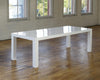 8' White Lacquer Table - For Sale
