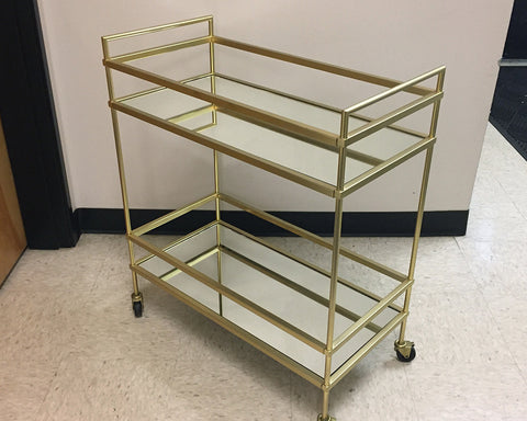 Gold Rimmed Bar Cart