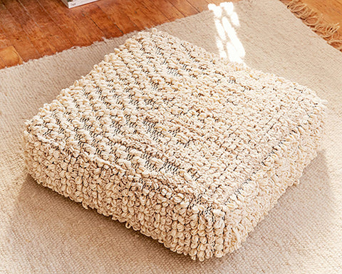 Ivory Loop Floor Pillow