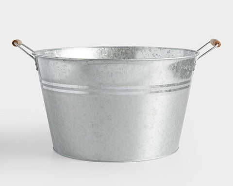 "15.5"" Round Galvanized Tubs"