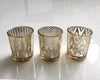 Gold n Clear Glass Votives - Small