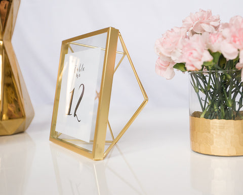 Gold Geo Table Numbers