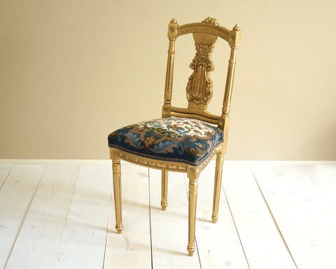 Small Vintage Gold Chair