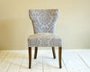 Silver Velvet Sweetheart Chairs