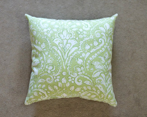Green Swirls Throw Pillows