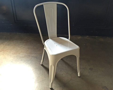 Industrial Mod White Chairs