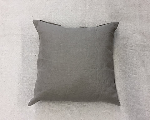 Washed Linen Pillow - Brown