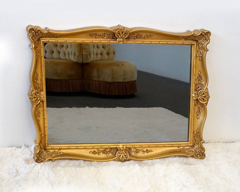 Vintage Gold Rectangular Mirror