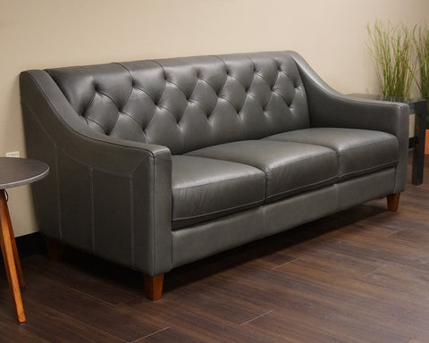 Exceptionnel Charcoal Leather Couch