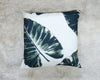 White Palm Leaf Throw Pillows