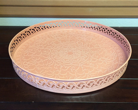 Pink Moroccan Tray