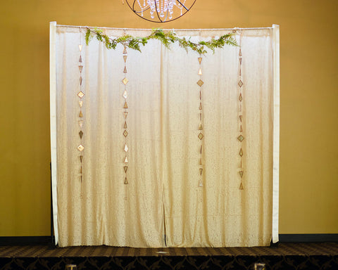 Pale Pink Sequin Backdrop