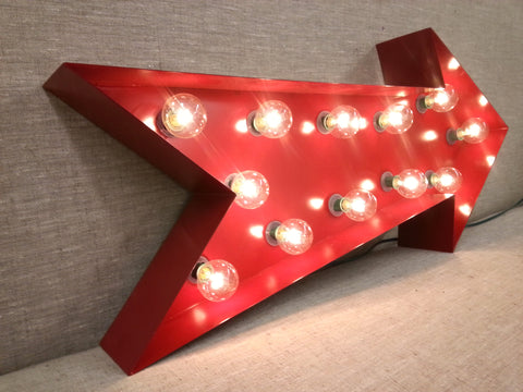 Red Arrow Marquee Sign