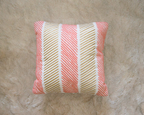 Rose & Gold Dash Pillow