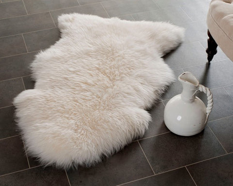Prairie Sheepskin White Rug