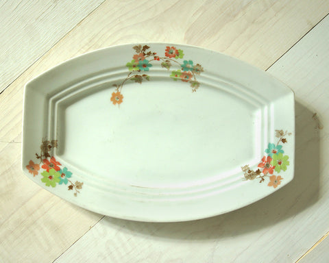 Triple Groove Vintage Serving Tray