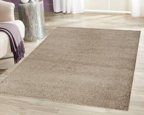 Plush Solid Brown Rug
