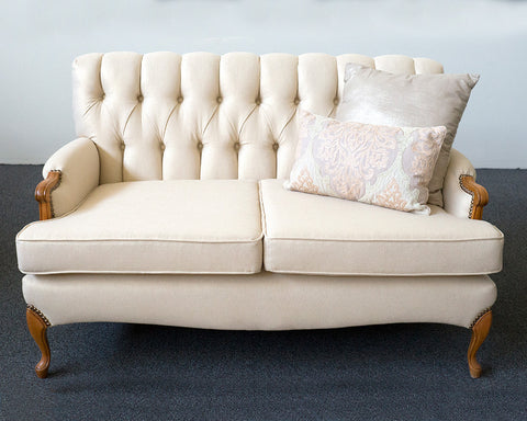 Gold Shimmer Loveseat