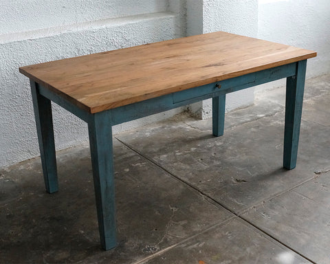True Blue Wood Table. Images / 1 / 2 / 3