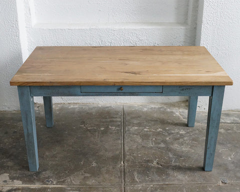 True Blue Wood Table