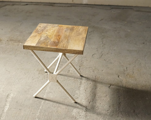 TA White Rope Side Table