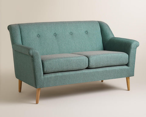 Teal Loveseat