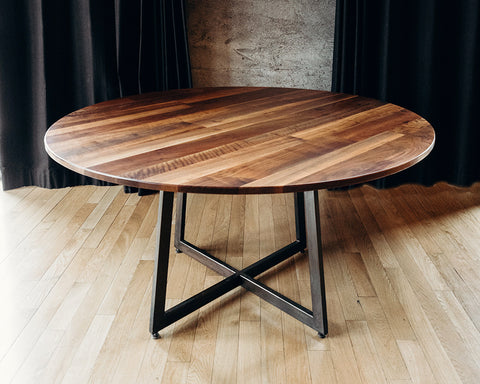 "60"" Walnut Rounds - Dining Tables"