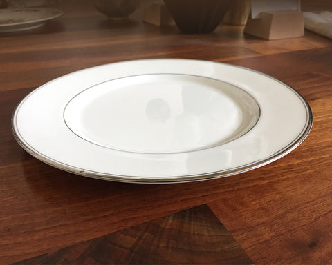 White China Salad Plates