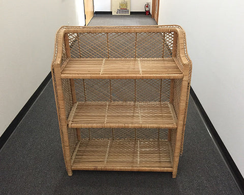 Wicker display case