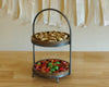 2 Tier Wood & Metal Desert Stand