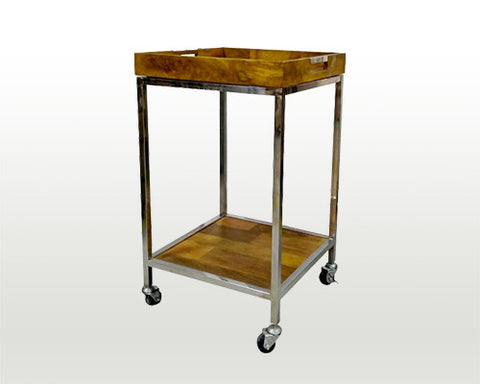 Metal & Wood Bar Cart