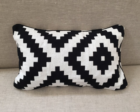 Tribal Black & White Pillow