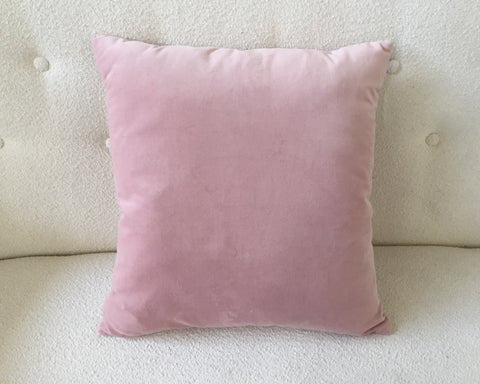 Pink Suede Pillows