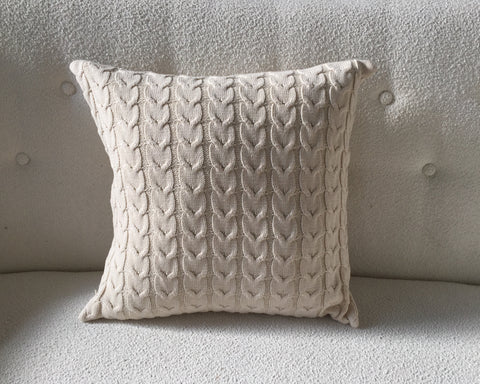 Ivory Sweatshirt Pillows