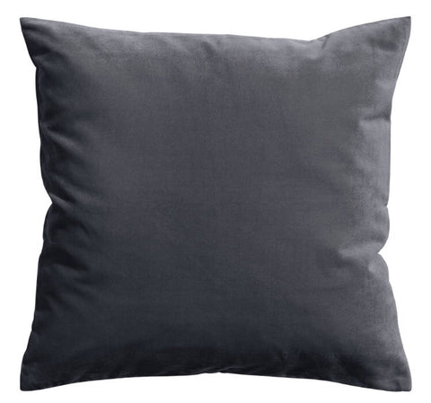 Charcoal Velvet Pillows
