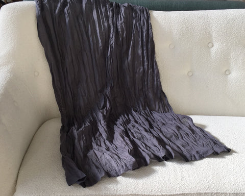 Crinkled charcoal fabric