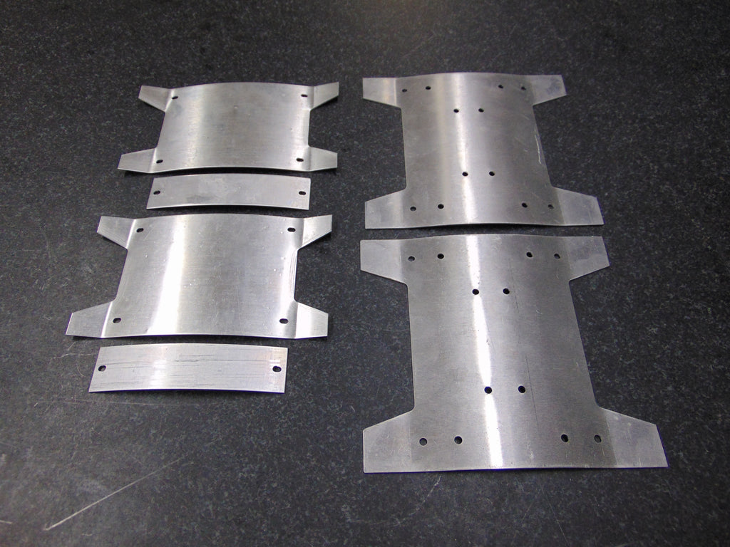 58.  Aluminum Rear Plates for Side / Pocket vents
