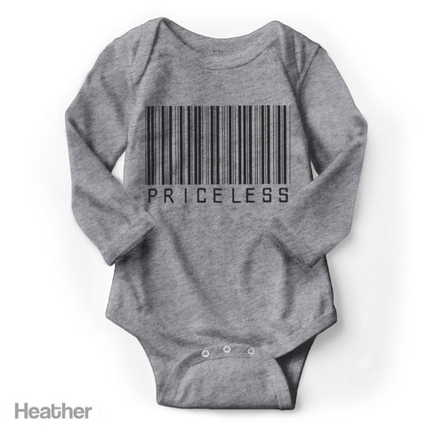 Priceless (Barcode) - Long Sleeve Infant Creeper