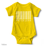 Priceless (Barcode) - Short Sleeve Infant Creeper