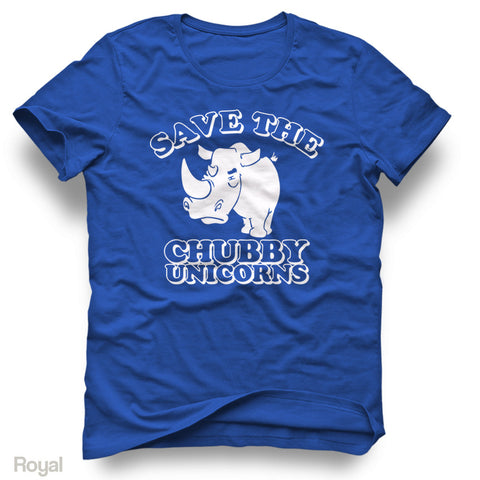 Save The Chubby Unicorns - Adult Short Sleeve Tee