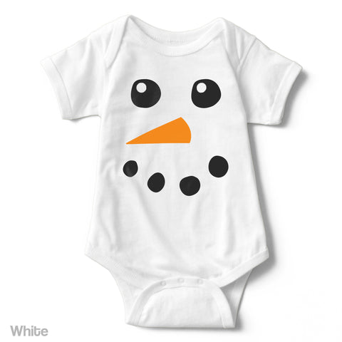 Snowman - Short Sleeve Infant Creeper