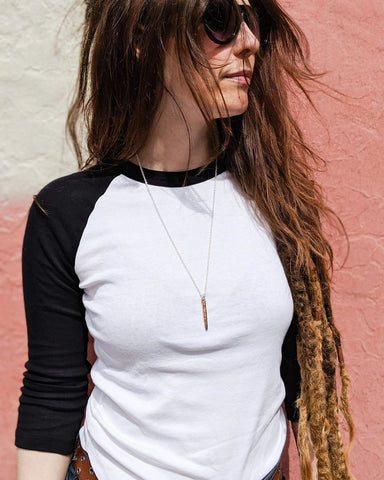 minimal spine necklace