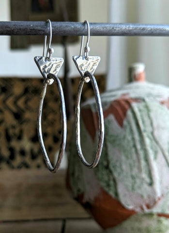 silver hoop earrings handmade