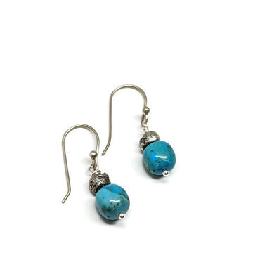 One of a kind Kingman Turquoise Earrings