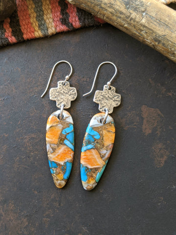 Sunrise Stone Slab Earrings