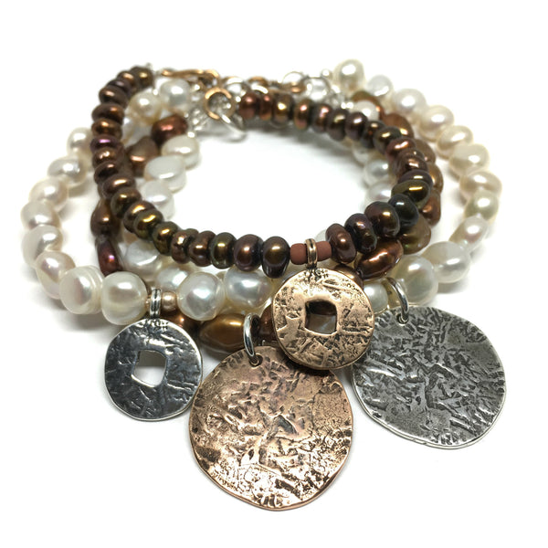 Small Ancient Coin Bracelet