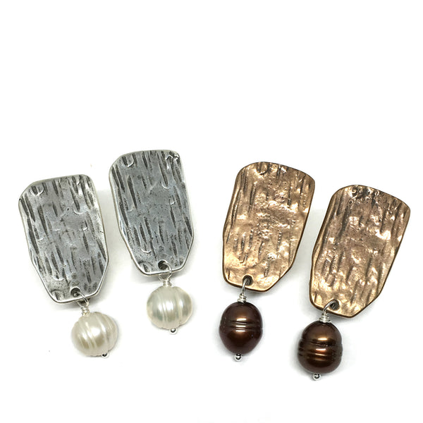 Tableau Clip-On Earrings with Pearl