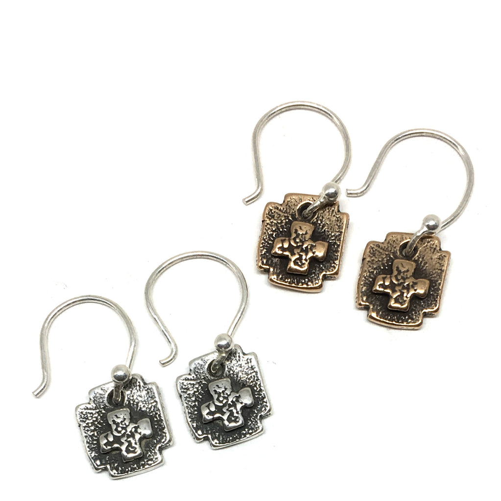 Square Cross Earrings