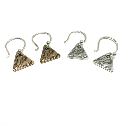 Tiny Triangle Earrings