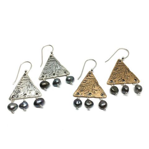 Geom Tribal Triangle Earrings
